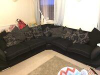 Extra large corner sofa.