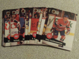 SERIE CARTES DE HOCKEY DES CANADIENS DE MONTRÉAL PRO SET 1991-92