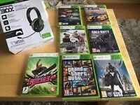 Xbox 360 games and headset