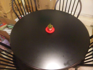 IKEA HAJDEBY round dining table w/4chairs for sale