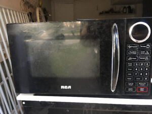 2016 rca black microwave over the counter**