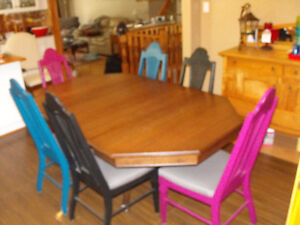 dining table and six chairs Cambridge Kitchener Area image 3