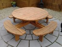 8 Seater garden picnic table / bench