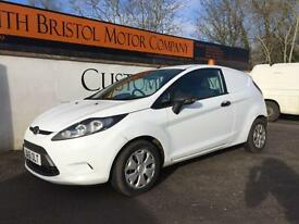 2011 61 FORD FIESTA 1.6 TDCi 95PS ECOnetic VAN 121K NEW MOT WHITE