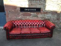 Oxblood red chesterfield 4+1 suite