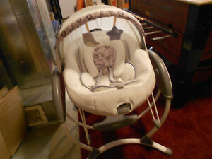 Graco soothing system glider swing and bouncer