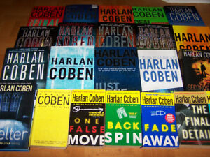 24 HARLAN COBEN books - 17 are hardcover