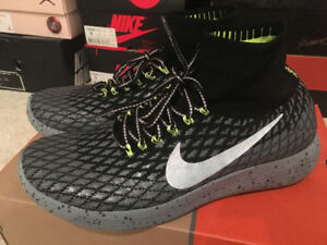 Nike LunarEpic Flyknit Shield running shoes in size 9 US