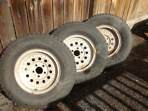 Hankook Winter Tires (3) with 4 Rims 235 75/R15