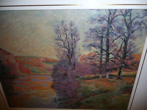 "Impressionist ""Autumn Reflections' Matted Art Print Stratford Kitchener Area image 2"