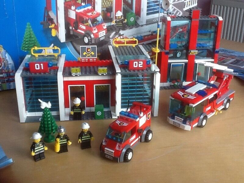 Lego City 7208 Fire Station Box Instructions Used In Romford