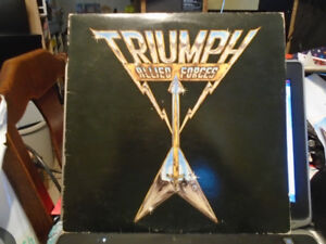 A record of the band Triumph.  Allied Forces LP