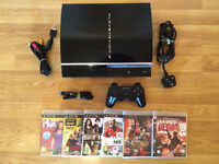 80gb PS3 CONSOLE with 6 GAMES (in full working order) £50 no offers (PlayStation 3)