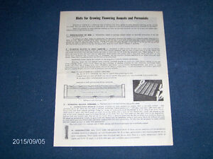 W.H. PERRON & CO-1960'S 4 PAGE BROCHURE-HINTS-FLOWERING ANNUALS+