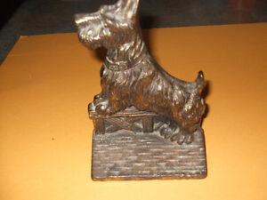 Vintage Scottie Terrier Cast Iron Brass Door Stop Kitchener / Waterloo Kitchener Area image 1
