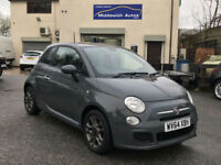 2014 Fiat 500 S 1.2 in Grey. Digital LCD Dash. LOW MILEAGE. ONE OWNER.