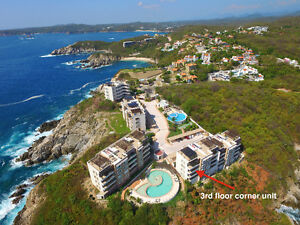 LUXURY Ocean Front Condos for Rent Huatulco Mexico