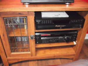 Cabinet for cd changer, turntable and receiver