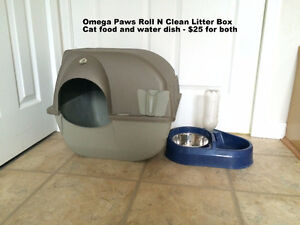 Omegs Paw roll n clean litter box