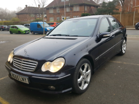 2005 MERCEDES C-CLASS C220cdi AUTOMATIC SPORT, HPI CLEAR,FULL LEATHERS