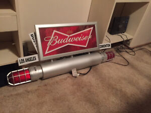 2 Budweiser goal lamps and sign