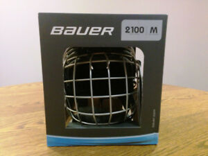 Bauer 2100 Hockey Helmet Combo with Cage (Size M, Black)