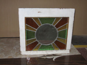 stained glass with mirror