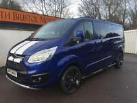 2015 15 FORD TRANSIT CUSTOM 2.2TDCi 155PS LIMITED DOUBLE CAB 290 L2 H1 5K BLUE
