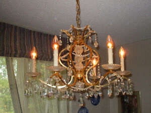 FIRST $200 TAKES IT!!  Vintage Chandelier