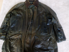 Barbour Border green wax jacket shabby 44 / 112