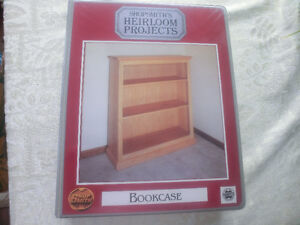 "Do-it-yourself SHOPSMITH'S HEIRLOOM PROJECTS ""BOOKCASE"""