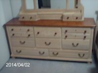 Bed, Dresser and End-Table for Sale