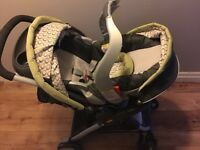 Graco stroller, infant car seat + 3 car seat bases