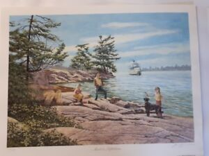 James Lumbers Muskoka Reflections limited Edition print unframed