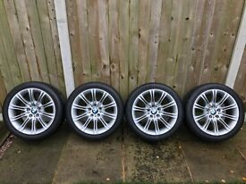 """BMW 5 Series Genuine 18"""" M Sport MV2 Alloy Wheels and Tyres"""
