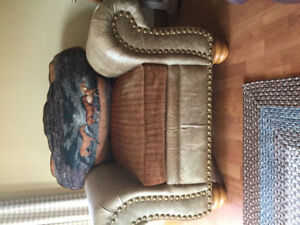 Leather armchair, couch, recliner