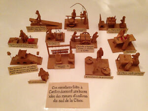 antique miniature carvings of the southern chinese people