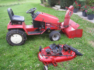 Toro 268H Series Tractor W/ Snow Blower and Grass Cutter.