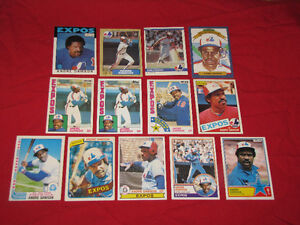 22 cards of Expos Hall of Famers Gary Carter and Andre Dawson*
