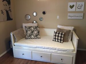 Ikea Hemnes Day Bed with 2 NEW MATTRESSES!