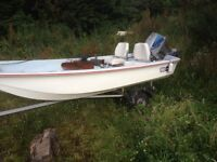 13 ft dory ,trailer 40hp engine
