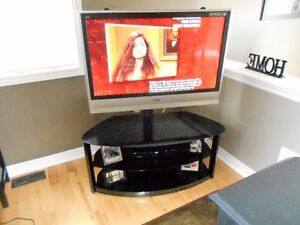 TV STAND WITH GLASS TABLE