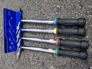 Torque wrenches set of 4