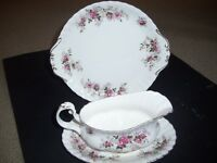 Royal Albert Lavender Rose Gravy Boat and Underplate