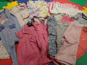 70pc Vêtements bebe fille 9-12 mois - Clothes for Baby Girls