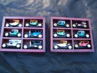 Collection of Hot Rods with Display wall shelfs!
