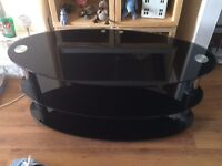 Black Glass Tv Stand for quick sale
