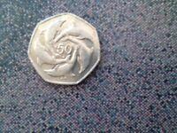 Dolphin 50p coin