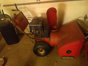 Two snowblowers