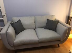 2 Brand new Light grey French Connection Sofas with insurance and 15 year guarantee